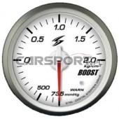 Wskaźnik ciśnienia doładowania 52mm biała tarcza