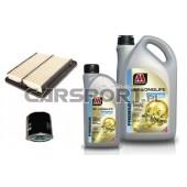 Pakiet olejowy Millers XF Longlife Premium C2 5w30 + filtry KNECHT