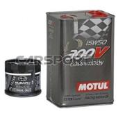 Pakiet olejowy Motul 15w50 Power 300V + filtr oleju