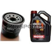 Pakiet olejowy Motul 5w30 8100 Eco-Clean + filtr oleju