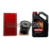 Pakiet olejowy Motul 5w30 8100 Eco-Clean + filtry KNECHT